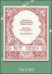 Dictionary of English and Italian philatelic terms-Dizionario di termini filatelici italiano-inglese