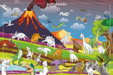 Dinosauri da colorare. Geoposter