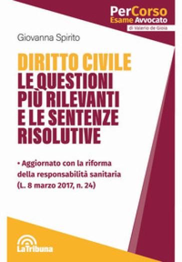 Diritto civile. Le questioni più rilevanti e le sentenze risolutive