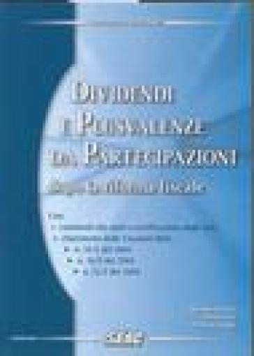 Dividendi e plusvalenze da partecipazioni dopo la riforma fiscale - Ennio Vial | Thecosgala.com