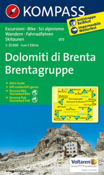 Dolomiti di Brenta 1:30.000. Adatto a GPS. DVD-ROM. Digital map