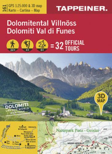 Cartina 3d Dolomiti.Dolomiti Val Di Funes Cartina Topografica Carta Panoramica 3d Libro Mondadori Store