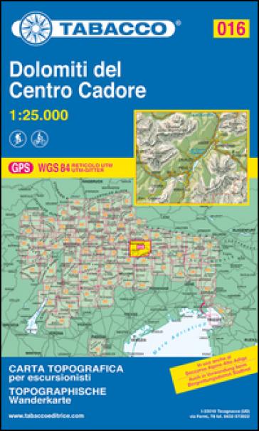 Dolomiti del centro Cadore 1:25.000