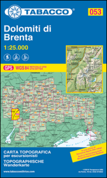 Dolomiti di Brenta 1:25.000