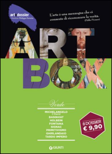 Dossier d'art. Box verde: Michelangelo. Il David-Basquiat-Holbein-Fontana-Signac-Primitivismo-Ghirlandaio-Tardo impero. Ediz. illustrata