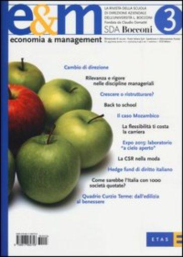 Economia & management. 3.