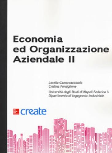 Economia e organizzazione aziendale II - Lorella Cannavacciuolo  