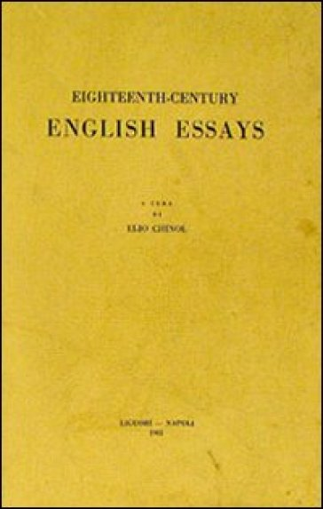Eighteenth-century English essays