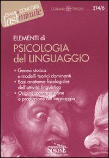 Elementi di psicologia del linguaggio - S. Aroldi  