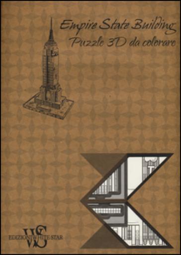 Empire State Building. Puzzle 3D da colorare