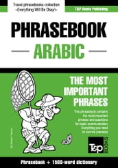 English-Arabic phrasebook and 1500-word dictionary