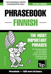 English-Finnish phrasebook and 1500-word dictionary