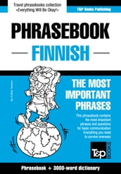 English-Finnish phrasebook and 3000-word topical vocabulary