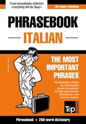 English-Italian phrasebook and 250-word mini dictionary