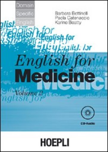 English for medicine. Con CD Audio. 2.