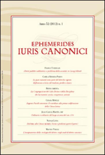 Ephemerides Iuris canonici (2012). 1.