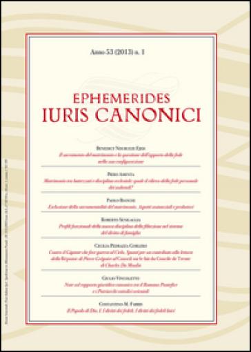 Ephemerides Iuris canonici (2013). 1.