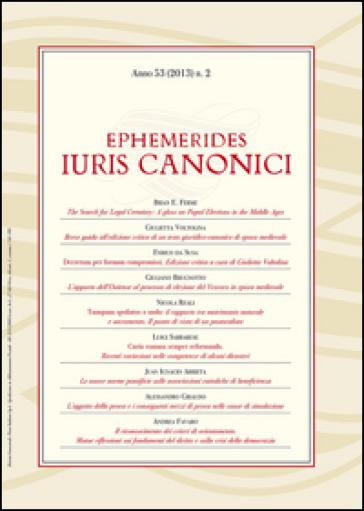 Ephemerides Iuris canonici (2013). 2.