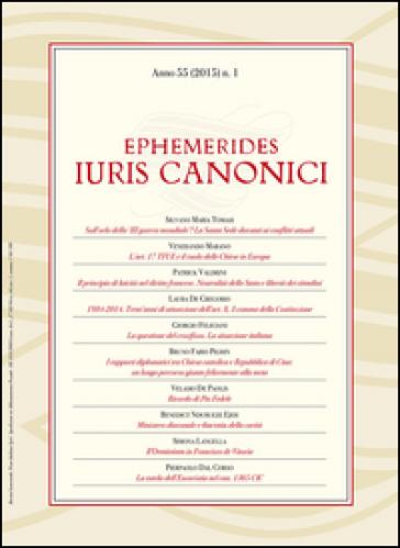 Ephemerides iuris canonici (2015). 1.