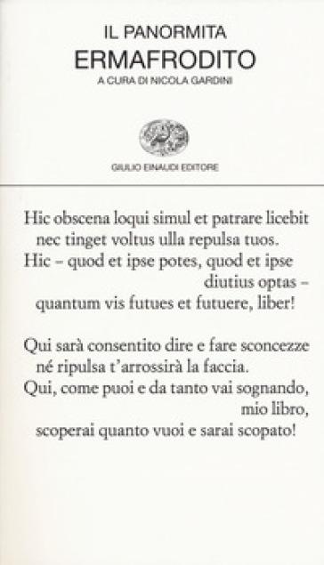 Ermafrodito. Testo latino a fronte - Il Panormita |