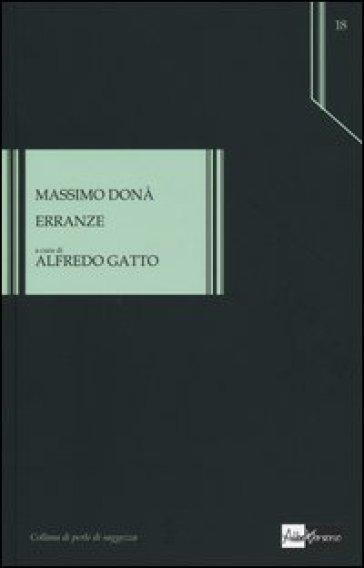 Erranze - Massimo Donà |