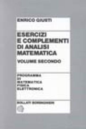 Esercizi e complementi di analisi matematica. 2. - Enrico Giusti pdf epub