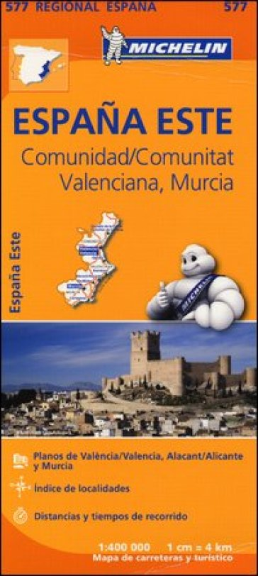 Espana Este. Comunidad/Comunitat Valenciana. Murcia 1:400.000