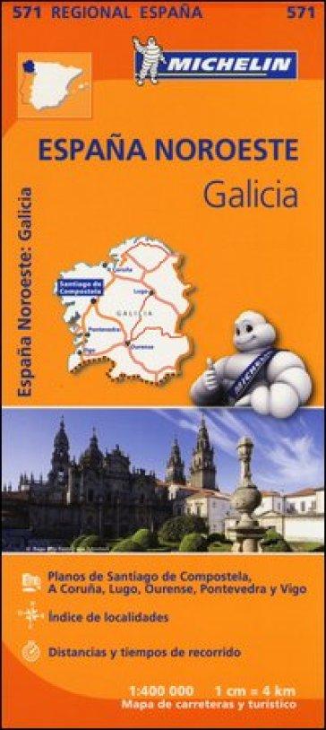 Espana Noreste. Galicia 1:400.000