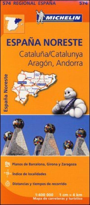 Espana Noreste. Cataluna/Catalunya. Aragon. Andorra. 1:400.000