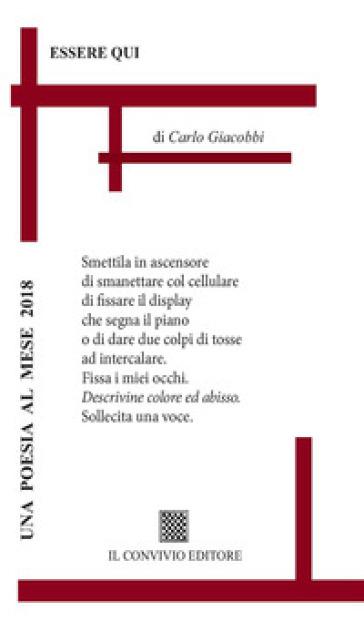 Essere qui - Carlo Giacobbi  