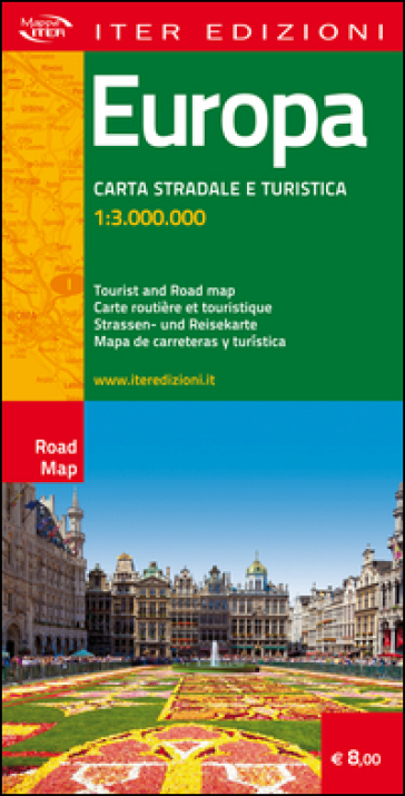 Europa. Carta stradale e turistica 1:3.000.000