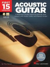 FIRST 15 LESSONS ACOUSTIC GUITAR BOOK/MEDIA ONLINE