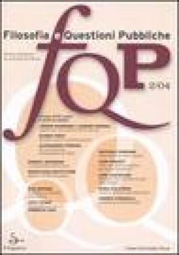 FQP. Filosofia e questioni pubbliche (2004). 2.