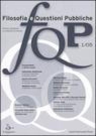 FQP. Filosofia e questioni pubbliche (2005). 1.