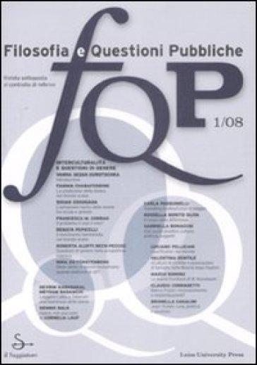 FQP. Filosofia e questioni pubbliche (2008). 1.