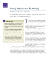 Family Resilience in the Military