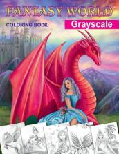Fantasy World. Grayscale Coloring Book