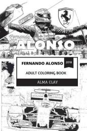Fernando Alonso Adult Coloring Book