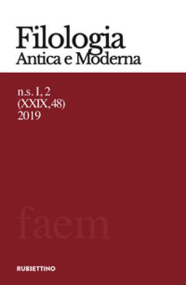 Filologia antica e moderna (2019). 48.