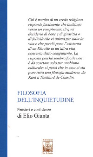 Filosofia dell'inquietudine - Elio Giunta   Thecosgala.com