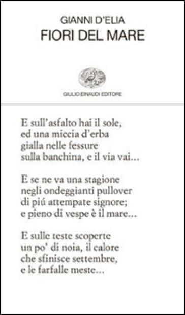 Fiori del mare - Gianni D'Elia | Kritjur.org