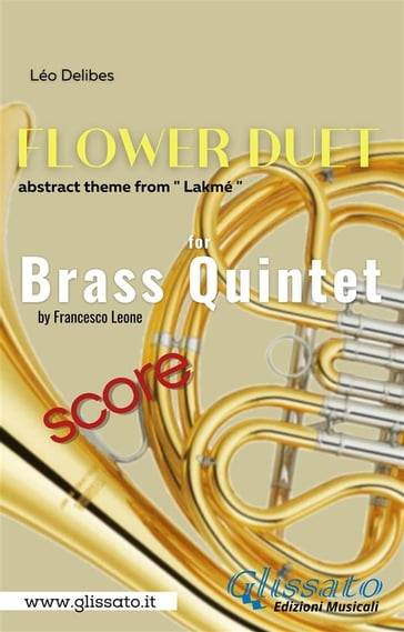 """Flower Duet"" abstract theme - Brass Quintet (score)"