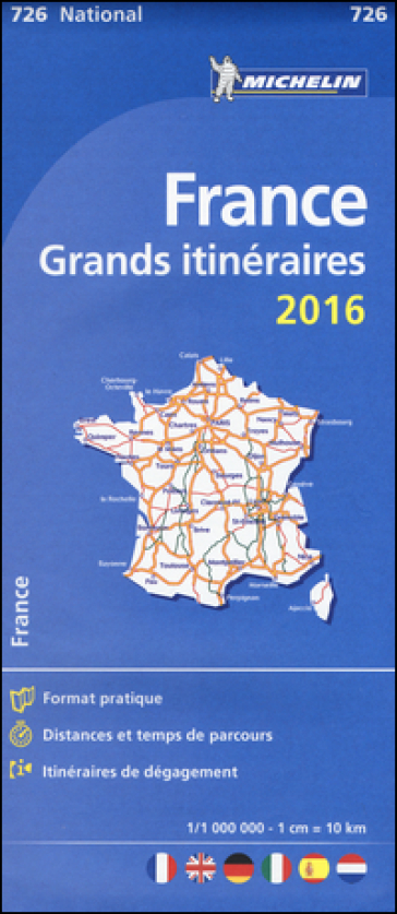 France. Grands itinéraires 1:1.000.000