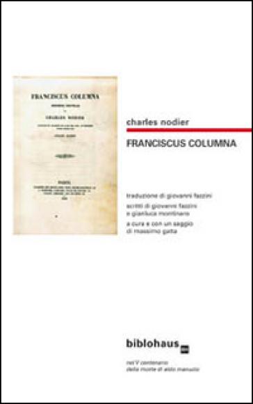 Franciscus Columna - Charles Nodier   Thecosgala.com