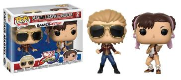 Games - Pop Funko Vinyl Figure 2 Pack Captain Marvel Vs Chun-Li