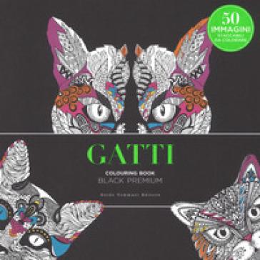 Gatti. Black premium. Colouring book antistress