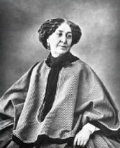George Sand, in the original French