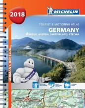 Germany, Benelux, Austria, Switzerland, Czech Republic 2018 - Tourist and Motoring Atlas (A4-Spiral)