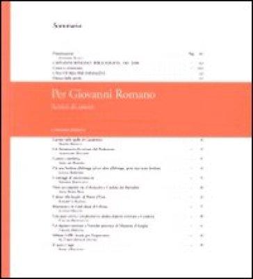 Per Giovanni Romano. Scritti di amici - Ada Guazza | Jonathanterrington.com