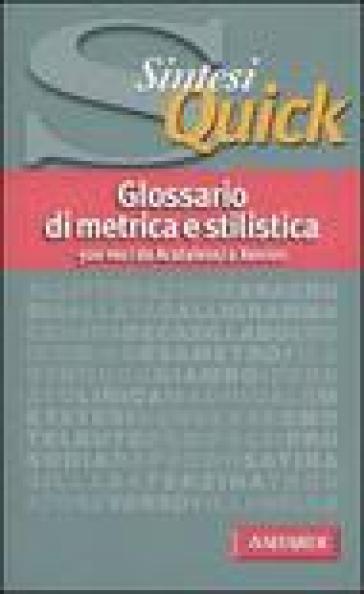 Glossario di metrica e stilistica - F. Sarri | Rochesterscifianimecon.com
